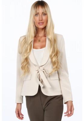 Elegantná dámska bunda vo svetlej béžovej farbe