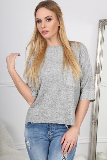 Štýlové, oversize, basic sivé tričko.