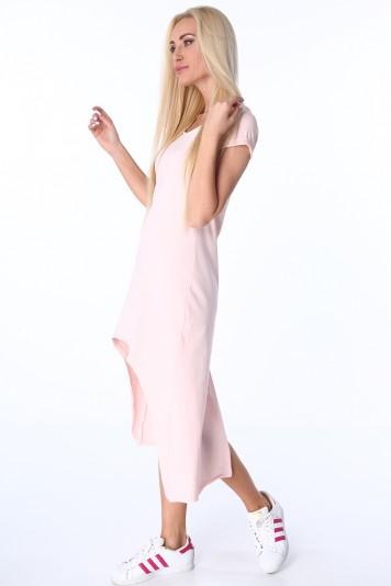 Letné svetloružové šaty