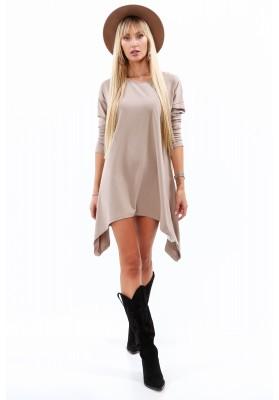 Jednoduchá, ale moderná tunika/šaty, béžová