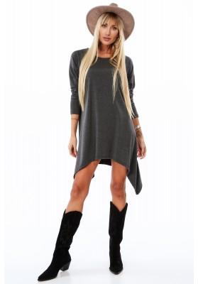 Jednoduchá, ale moderná tunika/šaty, šedá