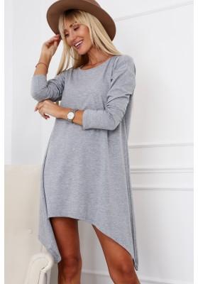 Jednoduchá, ale moderná tunika/šaty, sivá