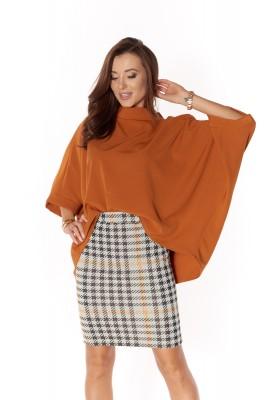 Oversize blúzka z bavlneného materiálu, oranžová
