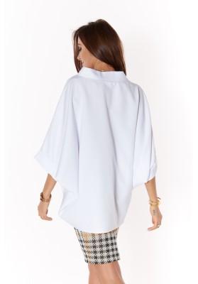 Oversize blúzka z bavlneného materiálu, biela