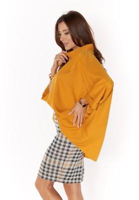 Oversize blúzka z bavlneného materiálu, žltá