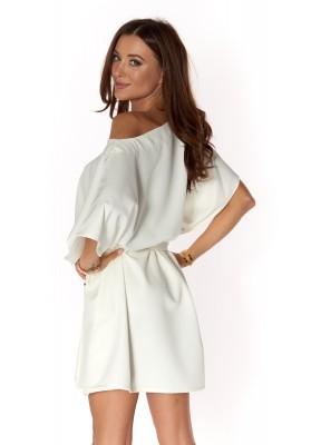 Moderné šaty v štýle Kimono, biele
