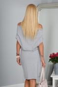 Krásne letné sivé šaty s viazaním okolo pásu