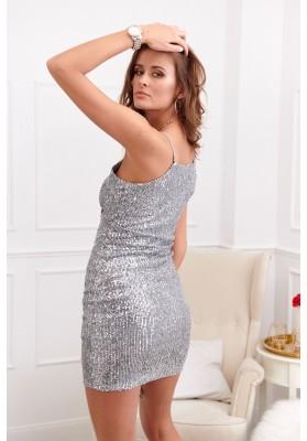 Pôsobivé flitrové šaty, strieborné