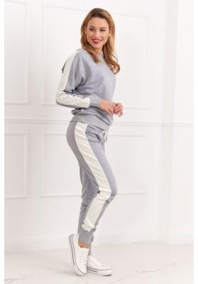 Dámska športová mikina a nohavice, sivé