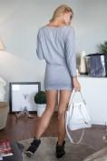 Šaty sivé  s dlhým rukávom