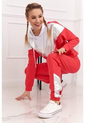 Dámska športová mikina a nohavice so vsadenou aplikáciou,