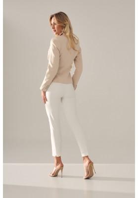 Elegantné, sako s bočnými ozdobnými klapkami, béžové