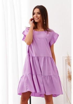Modna sukienka na lato fioletowa 19880