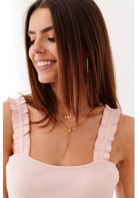 Jednoduché, štýlové tielko na hrubšie ramienka, ružové