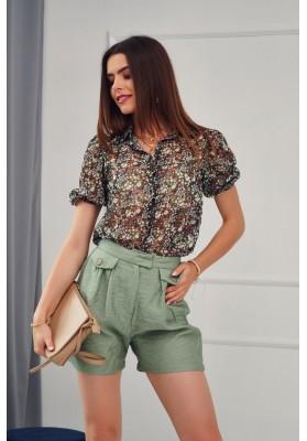Krátke šortky s dvomi bočnými vreckami, khaki