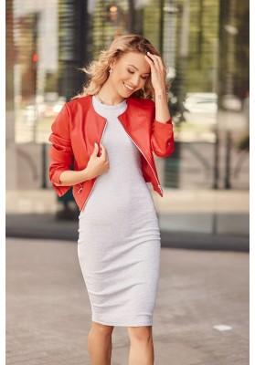 Fantastické, jednoduché šaty s krátkymi rukávmi, sivé