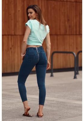 Trendy rifľové nohavice v úzkom strihu