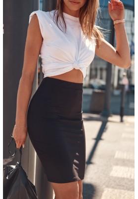 Trendy, dámska sukňa s elastickým pásom, čierna