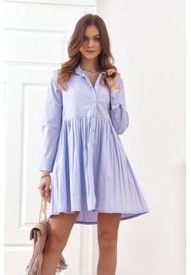Oversize, košeľové šaty o zapínaním na gombíky, fialová