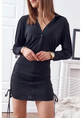 Jemné, nadčasové šaty, čierne