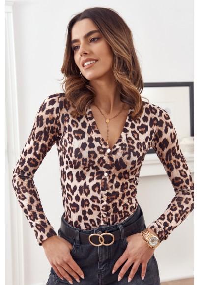Pohodlné, štýlové body s módnym leopardím vzorom