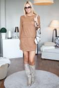 Karamelová súprava sukne a topu s dlhými rukávmi