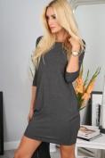 Mini šaty s dlhými rukávmi, šedé