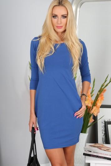 Mini šaty s dlhými rukávmi, indigové