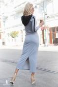 Sivý komplet, mikina a dlhá sukňa