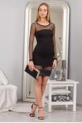 Čierne šaty s priesvitnými rukávmi