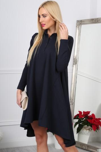 Nádherné,asymetrické, oversize navy šaty.