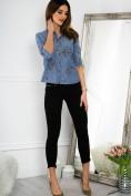 Bavlnená, jeansová košeľa s nášivkami.