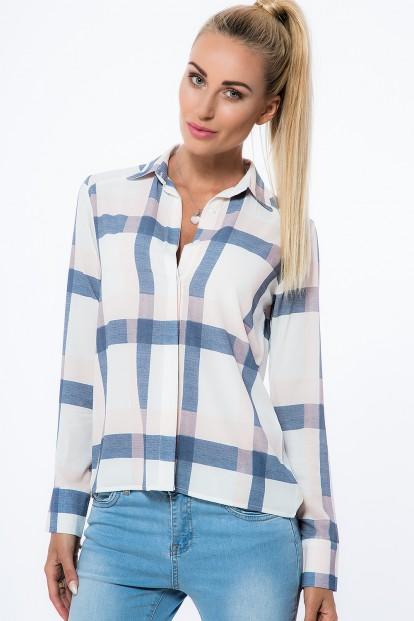 Smotanová, károvaná košeľa.