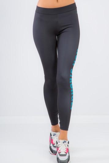 Športové, elastické, šedé legíny RUN STRONGLY.