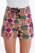 Trendy, letné, vzorované, ružovo-zelené šortky.