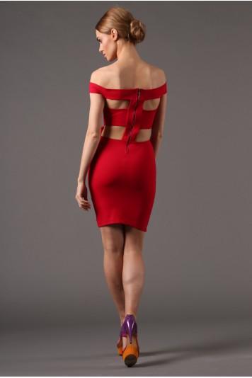 Červené extravagantné mini šaty