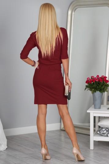 Šaty bordové