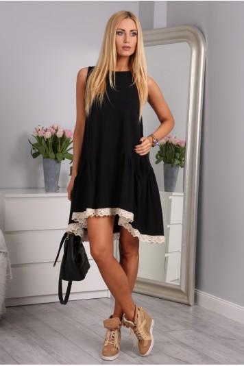 Čierne šaty bavlnené