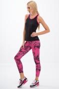 Vzorované, ružové, fitness legíny.