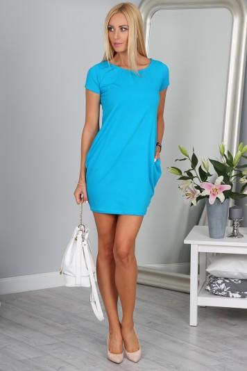 Športové modré šaty
