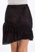 Krásna sukňa s volánmi, čierna