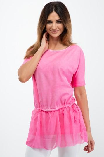 Tunika so štýlovou sukničkou, ružová