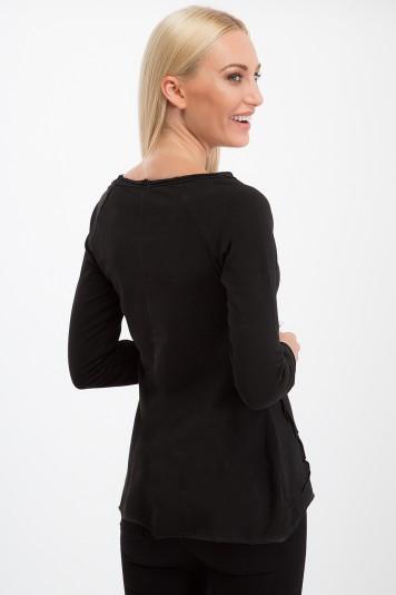 Tričko s dlhým rukávom, čierne