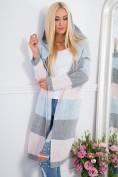 Sivo-modrý sveter s kapucňou