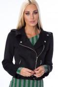 Čierna bunda s prekladaným zapínaním a štýlovými zipsami