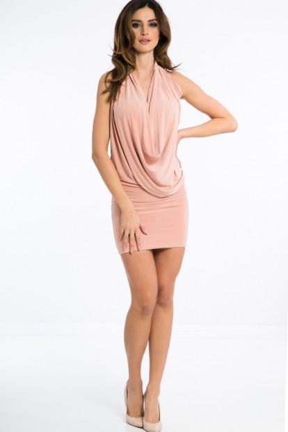 Sexi, pudrové šaty 4 v 1.