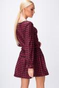 Áčkové šaty so srdiečkami, dlhý rukáv, bordové