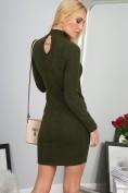 Sexi mini kaki šaty so zaujímavým výstrihom