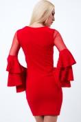 Nádherné spoločenské šaty ozdobené perličkami, červené