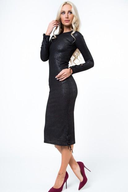 Midi šaty s púzdrovým strihom a ozdobným viazaním, strieborná